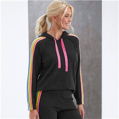 Brodie 'Ruby' NHS Rainbow Hoodie - Charcoal Rainbow