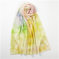 Brodie 'California' Tie-Dye Travel Wrap - White Multi