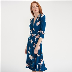 Joseph Ribkoff Camillia Print Wrap Dress
