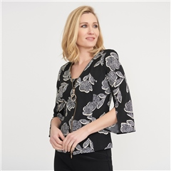 Joseph Ribkoff Floral Print Jacket And Camisole Twinset