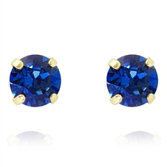 Caroline Svedbom Classic Swarovski Crystal Stud Earrings - Royal Blue Delite