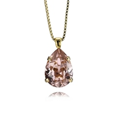 Caroline Svedbom 'Mini Drop' Swarovski Crystal Necklace - Vintage Rose