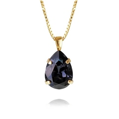 Caroline Svedbom 'Mini Drop' Swarovski Crystal Necklace - Graphite