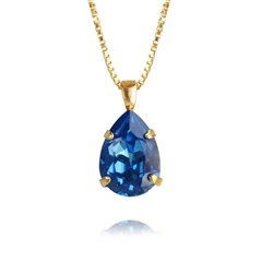 Caroline Svedbom 'Mini Drop' Swarovski Crystal Necklace - Royal Blue Delite
