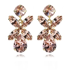 Caroline Svedbom 'Mini Dione' Swarovski Crystal Earrings - Vintage Rose