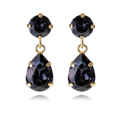Caroline Svedbom 'Mini Drop' Swarovski Crystal Earrings - Graphite