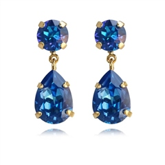 Caroline Svedbom 'Mini Drop' Swarovski Crystal Earrings - Royal Blue Delite