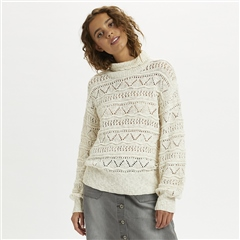 Cream 'Isala' Turtleneck Knitted Jumper