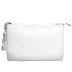 Alison Van Der Lande Leather Clutch Bag - White