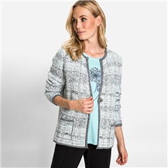 Olsen Cotton Mix Tweed Cardigan