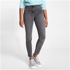 Olsen 'Mona' Slim Fit Jeans - Granite