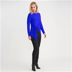 Joseph Ribkoff Ruched Front Long Sleeve Top