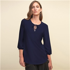 Joseph Ribkoff Tie-Detail Tunic - Midnight