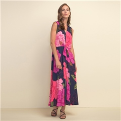 Joseph Ribkoff Floral Print Mid-Length Dress