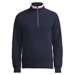 Holebrook 'Classic' 100% Cotton Windproof Jumper - Navy