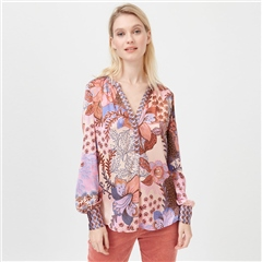Dea Kudibal 'Kay' Floral Print Stretch Silk Tunic - Prairie Rose