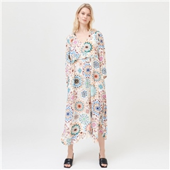 Dea Kudibal 'Fernanda' Kaleidoscope Print Viscose Blend Midi Dress - Kaleidoscope
