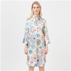 Dea Kudibal 'Kamille' Kaleidoscope Print Stretch Silk Shirt Dress - Kaleidoscope