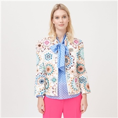 Dea Kudibal 'Rosy' Kaleidoscope Print Cotton Blend Jacket - Kaleidoscope