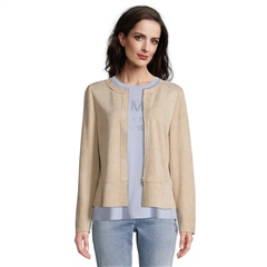 Betty Barclay Faux Suede Jacket - Latte Macchiato