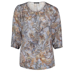 Betty Barclay Paisley Print Blouse - Blue Orange