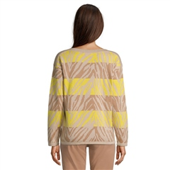 Betty Barclay Embellished Animal Print Jumper - Camel Yellow