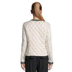 Betty Barclay Embellished Quilted Jacket - Bridal Ivory