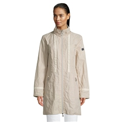 Betty Barclay Reversible Stand Up Collar Coat - Light Beige