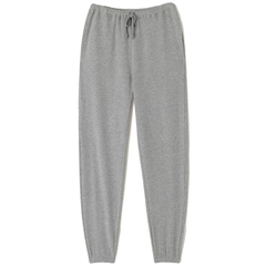 American Vintage 'Neaford' Cotton Joggers - Gris Chine