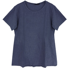 Cut.Loose Cotton/Linen Blend Bias-Cut T-Shirt - Night Sky