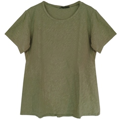 Cut.Loose Cotton/Linen Blend Bias-Cut T-Shirt - Jungle