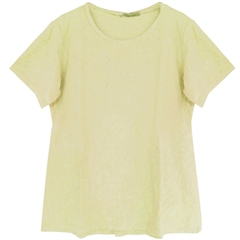 Cut.Loose Cotton/Linen Blend Bias-Cut T-Shirt - Lemon