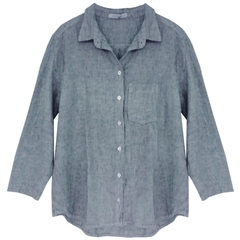 Cut.Loose Linen/Cotton Blend Shirt - Crystal