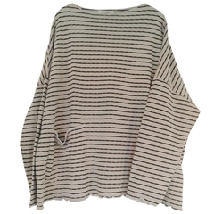 Cut.Loose Cotton/Tencel Blend Oversized Striped Jumper - Rye