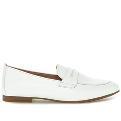 Gabor Leather Loafers - White