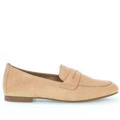 Gabor Leather Loafers - Caramel