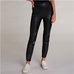 Oui Leather Look High Waisted Leggings