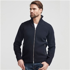 Holebrook 'Måns' Wool Windproof Jacket - Navy