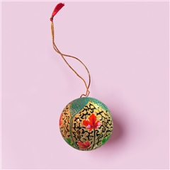 Sissel Edelbo Handpainted Christmas Ornament - Mint Floral