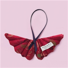 Sissel Edelbo Angel Wings Silk Ornament - Red Abstract