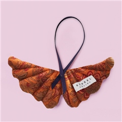 Sissel Edelbo Angel Wings Silk Ornament - Cinnamon Floral