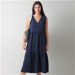 Indi & Cold 'Clara' Sleeveless Tiered Dress - Marino