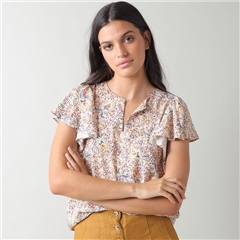 Indi & Cold 'Adele' Floral Print Blouse - Multi