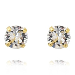 Caroline Svedbom Classic Swarovski Crystal Stud Earrings - Crystal