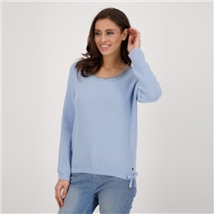 Monari Embellished Wide Roundneck Jumper
