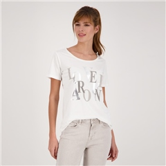 Monari Embellished Text Print T-Shirt