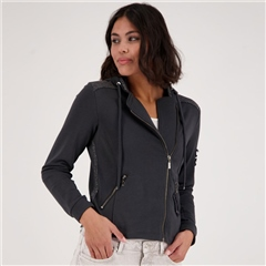 Monari Embellished Sweat-Jacket With Hood - Granite