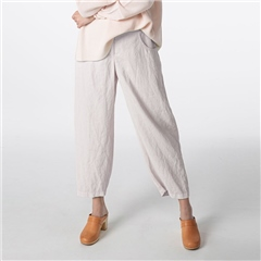 Oska 'Kahren' 100% Ramie 7/8th Trousers - Linen