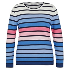 Rabe Cotton Blend Striped Jumper - Ice Blue