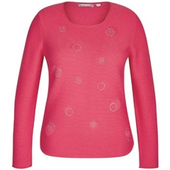 Rabe Cotton Blend Embellished Spot Jumper - Raspberry